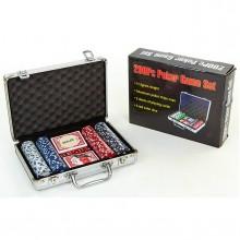 Набор для покера - на 200 фишек с номиналом (в алюминиевом кейсе)