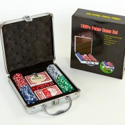 Набор для покера - 100 фишек без номинала (в алюминиевом кейсе)