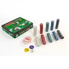 Набор для покера - 500 фишек с номиналом (в металлической коробке)