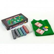 Набор для покера - 300 фишек с номиналом (в металлической коробке)