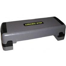 Степ-платформа Р-780 (пластик, р-р 90x32,5x15+5+5см, серый-черный)