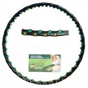 Обруч массажный Hula Hoop DOUBLE GRACE MAGNETIC (1,35кг, пластик, 8 секций, d-97см,с магнит)