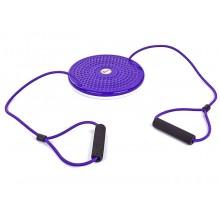 Диск здоровья массажный с эспандерами Грация PS FI-708 TWISTER (25 см, пластик)