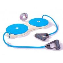 Диски здоровья тренажерные с эспандерами PS P-709 DOUBLE TWISTER (25 см, пластик)