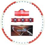 Обруч массажный Hula Hoop Anion Hoop (0,85кг, пластик, 8 секций, d-105см)
