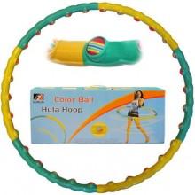Обруч массажный Hula Hoop COLOR BALL (1,5кг, пластик, 6 секций, d-90см)