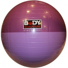 Мяч для фитнеса (фитбол) 65см гладкий глянцевый двухцветный Solex BB-001EPP-26 (PVC, ABS технолог)