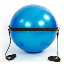 Мяч для фитнеса (фитбол) 75 см. глянцевый с эспандерами  PS (FI-0702B-75)
