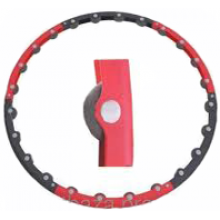 Обруч массажный Hula Hoop MASSAGE HOOP (1,1кг, пластик, неопрен, 6 секций, d-100см)