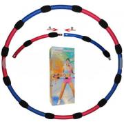 Обруч массажный Hula Hoop HU-LA RING (1,5кг, пластик, неопрен, 6 секций, d-90см)