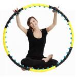 Обруч массажный Hop-Sport c шариками (108 см.)