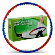 Обруч массажный Hula Hoop DOUBLE GRACE MAGNETIC (1,5кг, пластик, 8 секций, d-98см, с магнит)