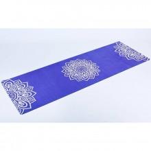 Коврик для фитнеса и йоги Yoga mat 3 мм, замша, каучук, двухслойный FI-5662-10 (1,83мx0,61мx3мм, синий)