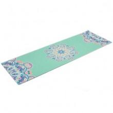 Коврик для фитнеса и йоги Yoga mat 3 мм, замша, каучук, двухслойный FI-5662-11(1,83мx0,61мx3мм, мятный)