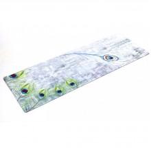 Коврик для фитнеса и йоги Yoga mat 3 мм, замша, каучук, двухслойный FI-5662-20 (1,83мx0,61мx3мм, серый-салатовый)