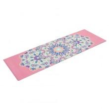 Коврик для фитнеса и йоги Yoga mat 3 мм, замша, каучук, двухслойный FI-5662-6 (1,83мx0,61мx3мм, розовый)