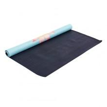 Коврик для фитнеса Yoga mat 2-х слойный замша, каучук FI-5663-2 (1,83мx0,61мx1мм, голубой)