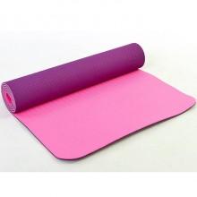 Коврик для фитнеса Yoga mat 2-х слойный TPE+TC 6мм FI-3046-10 (1,83мx0,61мx6мм)