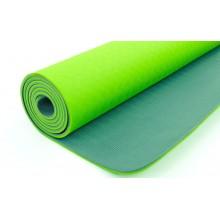 Коврик для фитнеса Yoga mat 2-х слойный TPE+TC 6мм FI-3046-11 (1,83мx0,61мx6мм)