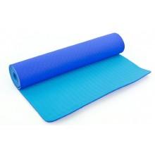 Коврик для фитнеса Yoga mat 2-х слойный TPE+TC 6мм FI-3046-12 (1,83мx0,61мx6мм)