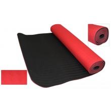 Коврик для фитнеса Yoga mat 2-х слойный TPE+TC 6мм FI-3046-2 (1,83мx0,61мx6мм)