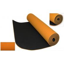 Коврик для фитнеса Yoga mat 2-х слойный TPE+TC 6мм FI-3046-3 (1,83мx0,61мx6мм)