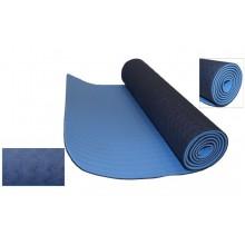 Коврик для фитнеса Yoga mat 2-х слойный TPE+TC 6мм FI-3046-5 (1,83мx0,61мx6мм)