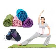 Коврик-полотенце для йоги Yoga mat towel FI-4938 (р-р 1,83м x 0,63м, микрофибра+силикон)