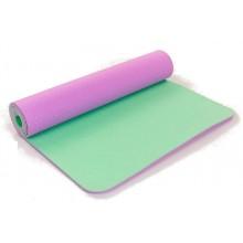 Коврик для фитнеса Yoga mat 2-х слойный TPE+TC 6мм ZEL FI-5172-10 (1,73мx0,61мx6мм)