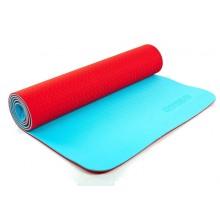 Коврик для фитнеса Yoga mat 2-х слойный TPE+TC 6мм ZEL FI-5172-14 (1,73мx0,61мx6мм)