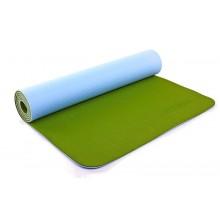 Коврик для фитнеса Yoga mat 2-х слойный TPE+TC 6мм ZEL FI-5172-15 (1,73мx0,61мx6мм)