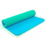 Коврик для фитнеса Yoga mat 2-х слойный TPE+TC 6мм ZEL FI-5172-7 (1,73мx0,61мx6мм)