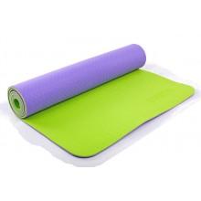 Коврик для фитнеса Yoga mat 2-х слойный TPE+TC 6мм ZEL FI-5172-9 (1,73мx0,61мx6мм)