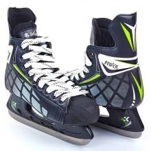 Коньки хоккейные Zelart Power (размеры 39-45, лезвие - сталь)