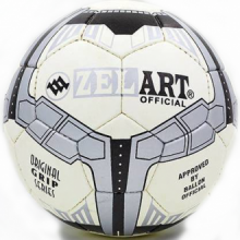 Мяч для футбола Grippy Zelart (бело-серый)