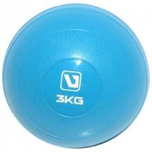 Мяч медицинский 3 кг. (медбол) LiveUp Soft Weight Ball (синий)