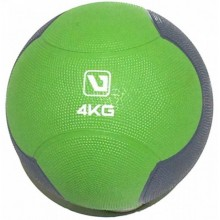 Мяч медицинский 4 кг. (медбол) LiveUp Medicine Ball (зелено-серый)