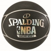 Баскетбольный мяч Spalding NBA Highlight Black Silver/Black Blue