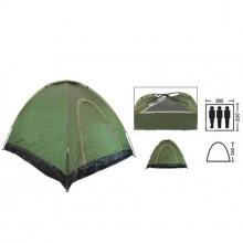 Палатка универсальная самораскладывающаяся 3-х местная SY-A-35-O (р-р 2х2х1,4м, PL, зелёный)