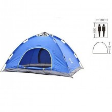 Палатка-автомат с автоматическим каркасом 2-х местная SY-A02-BL (р-р 2х1,5х1,1м, PL, синий)