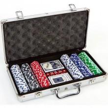 Набор для покера - на 300 фишек без номинала (в алюминиевом кейсе)