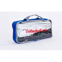 Сетка для волейбола ZLT С-5641 (РЕ, 3 мм, р-р 9,5*1 м, ячейка 12*12 см, с металлическим тросом)