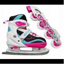 Роликовые коньки SportVida 4 в 1 SV-LG0032 Size 35-38 Pink/Blue