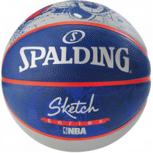 Мяч баскетбольный Spalding NBA Sketch Robot Outdoor Size 7