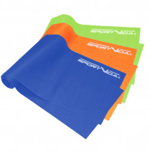 Лента-эспандер для спорта и реабилитации SportVida Flat Stretch Band 3 шт 120 х 15 см 0-15 кг SV-HK0183