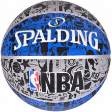 Мяч баскетбольный Spalding NBA Graffiti Outdoor Grey/Blue Size 7
