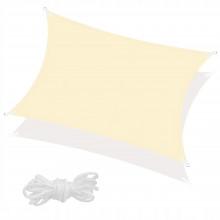 Тент-парус теневой для дома, сада и туризма Springos 4 x 3 м SN1032 Light Yellow