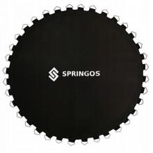 Прыжковое полотно (мат) для батута Springos 12FT 366 см (72 пружини) Black