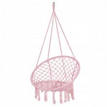 Подвесное кресло-качели (плетеное) Springos SPR0021 Pink