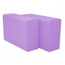 Блок для йоги 2 шт SportVida SV-HK0174-2 Violet